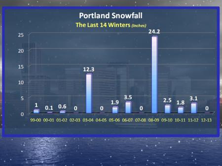Portland Snowfall